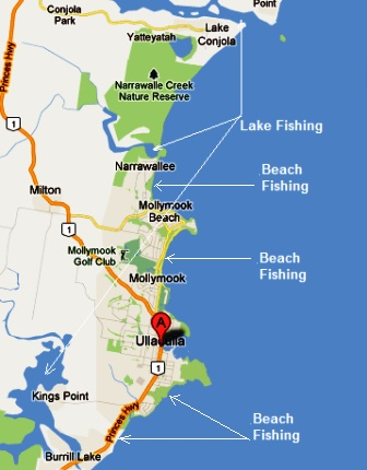Fishing,beach,waterfront,Ulladulla,Mollymook,Milton,destination