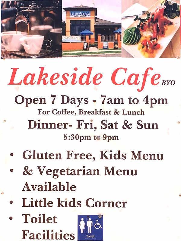 Lakeside Cafe & Restaurant,Lakeside cafe,Burrill,Burrill Lake,Lake Burrill