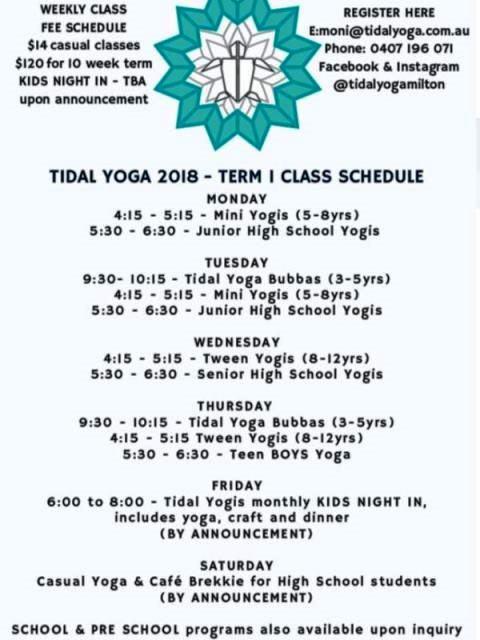 Tidal Yoga,Tidal Yoga Milton,Mollymook Ocean swimmers