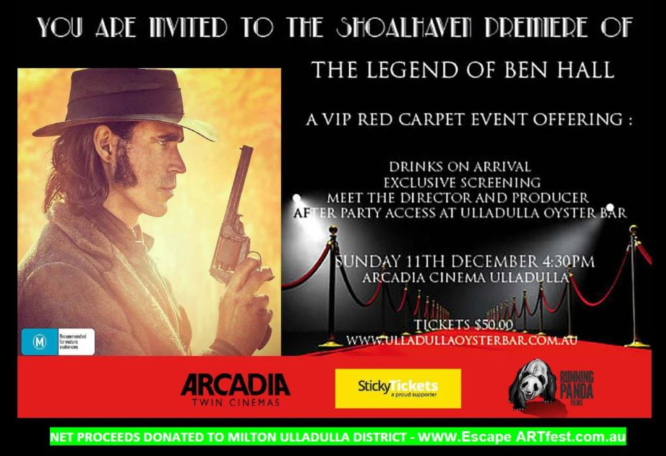 Ben Hall,movie,ulladulla,Arcadia,Arcadia theatre