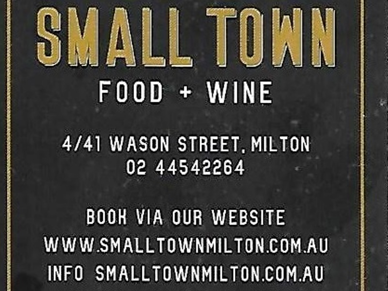 Small Town Food Wine,Small Town,Milton,Mollymook Beach Waterfront,Mollymook News,Destination Mollymook Milton Ulladulla
