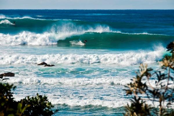 View of surfing Reef Break