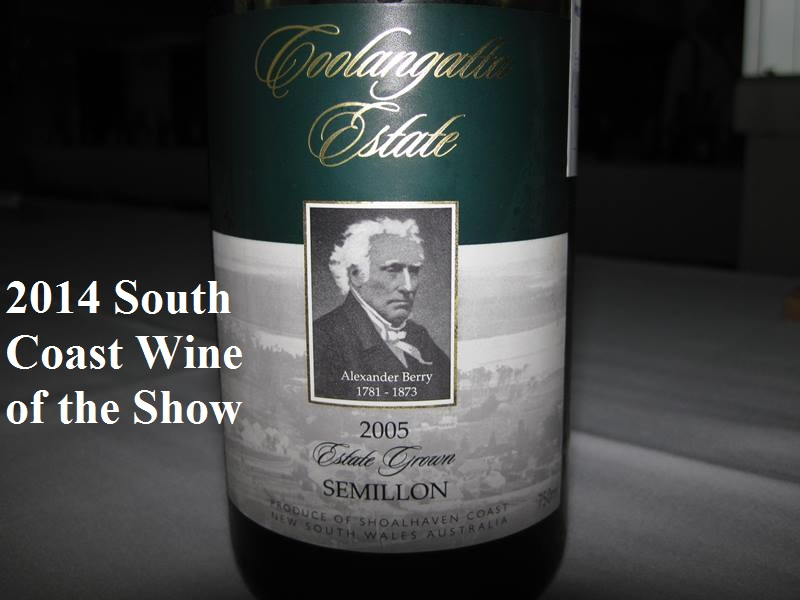 2014 South Coast Wine Show,South Coast Wine Show,Cupitt's,Coolangatta Estate,Bawley Vale Estate,wine,show